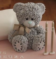 "Pillow cake with ""Me To You"" Teddy Bear - Cake by Bolo em Branco [by Margarida Duarte]"
