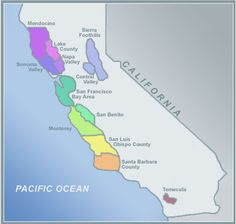 California Wine Country Map: Helpful Information for the California Wine Country