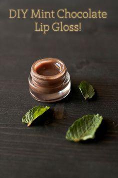 DIY Mint Chocolate Lip Gloss!