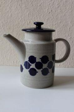 Melitta-Kanne-Blau-Grau-handgemalt-Keramik