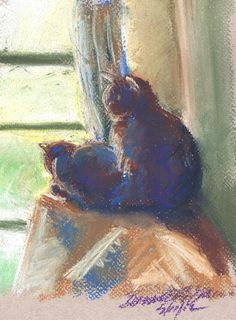 The Sunny Upstairs Window Various Prints by PortraitsOfAnimals