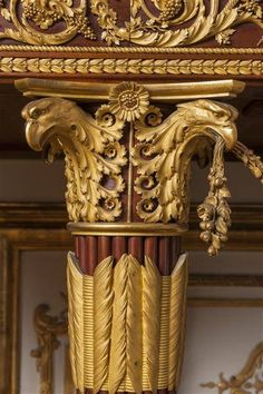 DETAIL: GILDED BRONZE (bronze doré) MOUNTS~ MARIE-ANTOINETTE'S JEWEL CABINET ~ Monumental masterpiece of french furniture created by Jean-Ferdinand Schwerdfeger in 1787. Created for the Queen's Chamber at le Château de Versailles, it can still be admired there today.