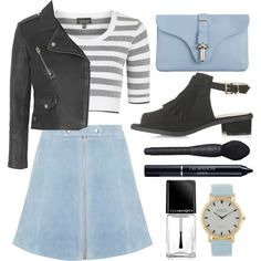 How To Wear Suede and Leather Outfit Idea 2017 - Fashion Trends Ready To Wear For Plus Size, Curvy Women Over 20, 30, 40, 50