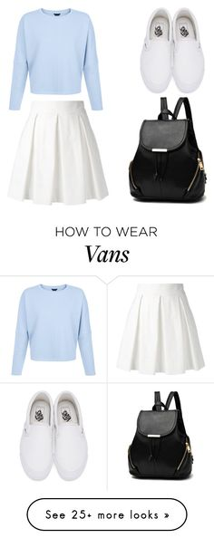 """Blue Dream"" by dreamhigh426 on Polyvore featuring Boutique Moschino and Vans"