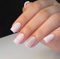 42 Trendy Wedding Manicure Ideas Classy French Tips Polygel Nails, Nude Nails, French Manicure Short Nails, Manicure E Pedicure, Manicure Ideas, Cute Acrylic Nails, Nagel Gel, Stylish Nails, Creative Nails