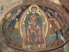 Santa María de Tahull. Detalle del motivo central del ábside.