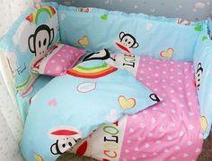 Monkey Designer Print Baby Bedding Crib Set 6/7 PCs - Loluxe - 1