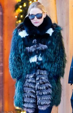 Fashionista: The blonde beauty showed off her style even while bundling up for a cold day in Gstaad, Switzerland