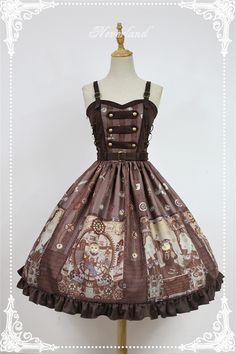 Neverland Lolita -Steampunk Cat- Lolita Normal Waist JSK