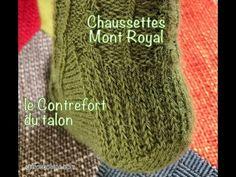 KAL Chaussettes Mont Royal Contrefort du talon - YouTube