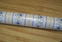 Vintage Imperial Wallpaper / Blues / Pale by PaintedOnPlaques, $25.00