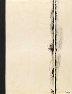 Barnett Newman - 1. First Station, 1958 from the Stations of the Cross series, National Gallery of Art, Washington D.C. Magna on canvas, 197.8 x 153.7 cm