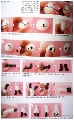 panda needle felt tutorial