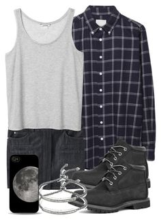 """Scott Inspired Outfit with Black Timberlands"" by veterization ❤ liked on Polyvore featuring Band of Outsiders, Étoile Isabel Marant, Monki, Timberland and Monica Vinader"