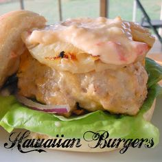 Hawaiian Burgers -turkey burgers with sweet chili mayo and grilled pineapple made a yummy meal on our #TurkeyTuesday @Butterball @Allrecipes.com