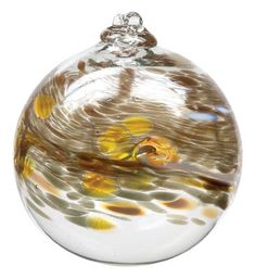 Hand Blown Glass Ornament Globe April by TheDepotLakeviewOhio