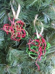 These unique Spaghetti Christmas Ornaments are a great holiday craft for toddlers, on up. They would make a cute gift for a Grandparent or family member! They won't last until next season, but they're fun to make every year!