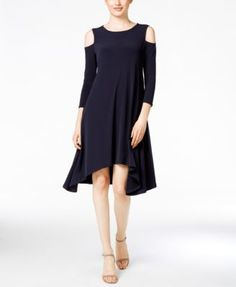 Alfani Petite Cold-Shoulder Shift Dress, Only at Macy's | macys.com