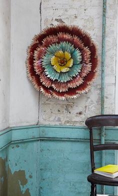 Lacquered Tin Flower - Plümo Ltd