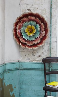 Lacquered wall flower