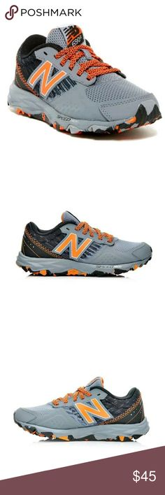 NEW BOYS NEW BALANCE SNEAKERS  (Size 7) Boy's New Balance Trail Running Shoes   Watch him dash ahead of the competition in the New Balance KT690CMY!A durable, all terrain, rubber traction outsole sets this stylish running shoe apart, making it perfect for outdoor sport practices, light hiking, and even cross country running.  Watch him cross the finish line in the KT690CMY!  Rubber toe bumperMesh upper with synthetic overlays for lightweight supportDurable rubber outsole with All Terrain…