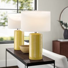 Langley Street Binder 3 Way Table Lamp Base Color: Pastel Yellow Table Lamp Base, Table Lamp Sets, Lamp Bases, Entryway Console, Living Room End Tables, Large Lamps, Langley Street, Ceramic Table Lamps, Night Lamps