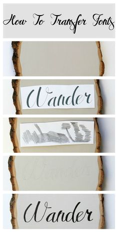 How to transfer fonts. Add typography to any craft!