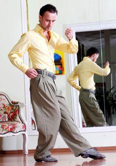 Tango trousers tango pants Argentine tango by AbrazosTangoWear