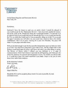 cover letter letterhead examples