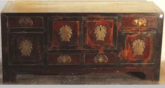 Wood Small Long Side Cabinet