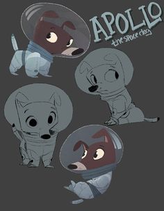 beffalumps and woozles Apollo Space Dog ★ Find more at http://www.pinterest.com/competing/