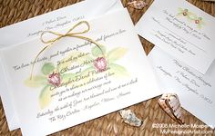 Painted Orchid Wedding Invitations | My Personal Artist