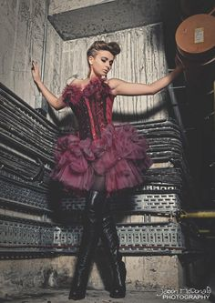 Gothic Claret Corset Dress