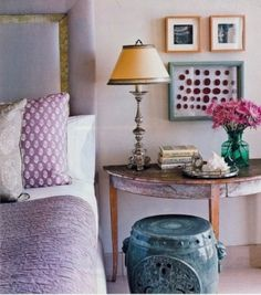 vintage elemente schlafzimmer gestalten fliederfarbe                                                                                                                                                                                 Mehr