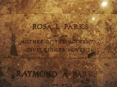 Visit the gravesite of Rosa Parks and pay my respects.