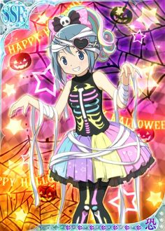 Sayaka Halloween 2 - Madoka Magica Mobage Cards