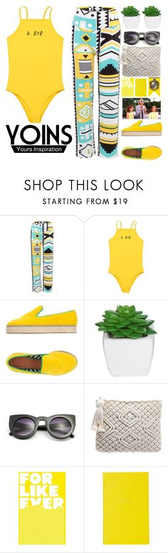 """Whoever leaves is easy to love.  © Franz Kafka. Castle YOINS #6"" by holy-k15 ❤ liked on Polyvore featuring M Missoni, Smythson, yoins, yoinscollection and loveyoins"