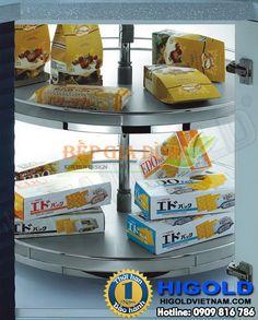 Kệ Inox xoay 4/4 cho góc tủ bếp Higold – 103072