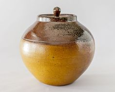 Round lidded jar new to the Leach pottery tableware range largest of 3 sizes.
