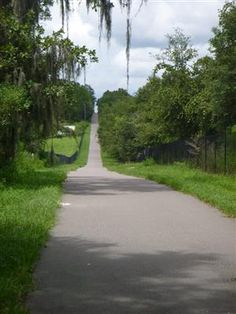 SUNCOAST TRAIL -  Hernando County, FL: 42 paved miles running from Hernando County to Pasco County. Well maintained trail with long distances between road crossings. Flat with mile markers every half mile. Trail passes through a mix of suburban, agricultural and natural areas. Trail parallels the Suncoast Parkway.