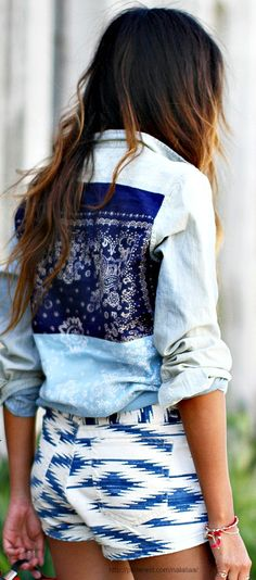 Loving the fabric back jean jackets and button downs! http://www.bemisred.com/collections/jean-jackets