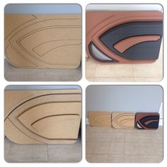 custom door panels progression 3D mdf grey brown black