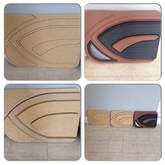 custom door panels progression 3D mdf grey brown black