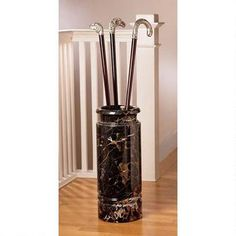Authentic 44-lb. Solid Ebony Marble Cane and Umbrella Vessel $159.00