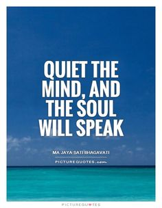 Quiet The Mind And Soul Will Speak Picture Quotes