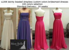 #customcolor #bridesmaiddresses Bridesmaids, Bridesmaid Dresses, Prom Dresses, Formal Dresses, Belle Bridal, Strapless Dress Formal, Evening Dresses, Custom Design, Colours