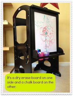 The Learning Tower - Art Easel dry erase and chalk board