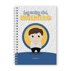 Cuaderno XL - Las notas del ingeniero, encuentra este producto en nuestra tienda online y personalízalo con un nombre. Notebook, Cover, Engineer, Notebooks, Report Cards, Day Planners, Products, The Notebook, Exercise Book