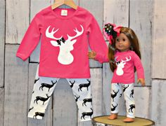 Clearance: Girl's Oh Deer Pant Set
