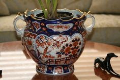 FABBY'S LIVING: FABBY: Delft Imari Bowl with Orchid
